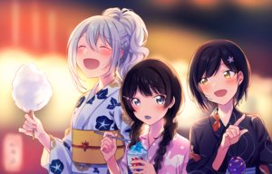 Rating: Safe Score: 35 Tags: black_hair braids candy festival fuji_fujino gray_hair higuchi_kaede japanese_clothes long_hair nijisanji shizuka_rin short_hair summer tsukino_mito twintails yellow_eyes yukata User: RyuZU