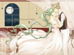 Rating: Safe Score: 22 Tags: blonde_hair dress flowers fuusha green_hair hatsune_miku kagamine_len night ponytail twintails vocaloid User: HawthorneKitty