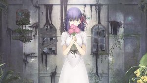 Rating: Safe Score: 207 Tags: bow butterfly dress fate_(series) fate/stay_night flowers matou_sakura purple_eyes purple_hair tagme_(artist) third-party_edit waifu2x User: RychterZychter