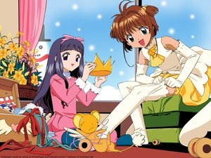 Rating: Safe Score: 46 Tags: 2girls black_hair blue_eyes brown_hair card_captor_sakura christmas clamp crown daidouji_tomoyo elbow_gloves flowers gloves green_eyes kero kinomoto_sakura long_hair ribbons short_hair snow snowman thighhighs vector winter User: Oyashiro-sama