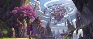 Rating: Safe Score: 38 Tags: building cherry_blossoms clouds flowers original ren2211 scenic sky sword tree water waterfall weapon User: FormX