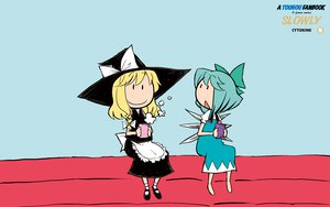 Rating: Safe Score: 8 Tags: 2girls cirno fairy kirisame_marisa touhou witch User: Oyashiro-sama