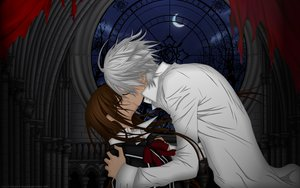 Rating: Safe Score: 28 Tags: kiryu_zero kiss moon night tree vampire_knight yuuki_cross User: Destroying