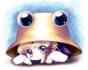 Rating: Safe Score: 47 Tags: blonde_hair blue_eyes cat_smile hat moriya_suwako short_hair touhou yume_shokunin User: SciFi