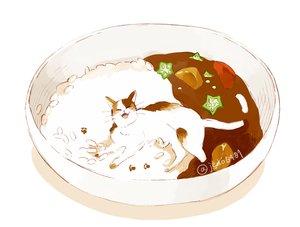 Rating: Safe Score: 41 Tags: animal cat food hakuchizu_(jedo) nobody original signed waifu2x white User: otaku_emmy