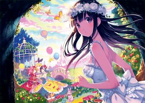 Rating: Safe Score: 123 Tags: alice_in_wonderland alice_(wonderland) animal apple aqua_eyes bird black_hair blonde_hair blue_eyes blush bow breasts building butterfly cake clouds dress drink flowers food frog fruit gloves grass headdress leaves little_red_riding_hood long_hair nishimura_eri no_bra orange_eyes orange_hair original purple_hair rabbit red_riding_hood rose scan short_hair snow_white snow_white_and_the_seven_dwarfs tree User: mattiasc02