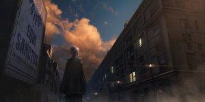 Rating: Safe Score: 22 Tags: building cape city clouds dark izna_(iznatic) original purple_hair scenic short_hair sky sunset User: otaku_emmy