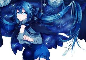 Rating: Safe Score: 67 Tags: bloomers blue blue_eyes blue_hair bow braids cape hazuki_mizuho long_hair original User: Flandre93