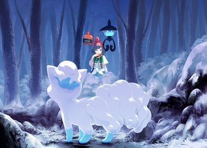 Rating: Safe Score: 28 Tags: black_hair blue_eyes chandelure forest hat mizuki_(pokemon_sm) mk_(mikka) pokemon rotom scarf short_hair tree vulpix User: FormX