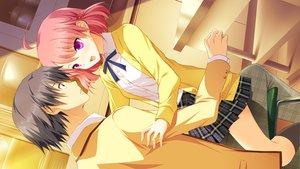 Rating: Safe Score: 53 Tags: fujikawa_runa game_cg hatsukoi_1/1 katagiri_yuuma male User: Maboroshi