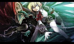 Rating: Safe Score: 81 Tags: aegis blonde_hair blue_eyes hichiko persona persona_3 short_hair weapon User: FormX