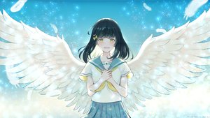 Rating: Safe Score: 33 Tags: feathers original pabo school_uniform watermark wings User: FormX