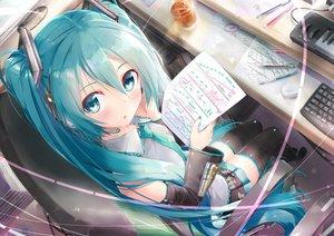 Rating: Safe Score: 77 Tags: daidou_(demitasse) hatsune_miku long_hair twintails vocaloid User: luckyluna
