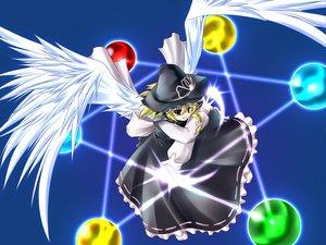 Rating: Safe Score: 14 Tags: kirisame_marisa magic touhou wings witch User: Oyashiro-sama