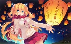 Rating: Safe Score: 108 Tags: aizawa_hikaru aqua_eyes blonde_hair blush long_hair microsoft os-tan scarf shinia skirt valentine User: Flandre93