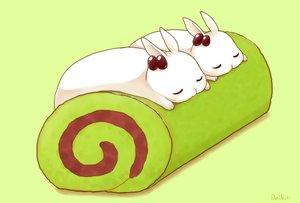 Rating: Safe Score: 46 Tags: animal cake daikichi_(pixiv13506351) food gradient green original rabbit signed sleeping User: otaku_emmy