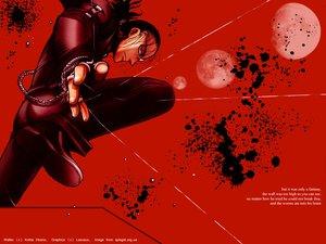 Rating: Safe Score: 6 Tags: black_hair blood hellsing male moon ponytail red red_eyes walter_c_dornez User: Oyashiro-sama