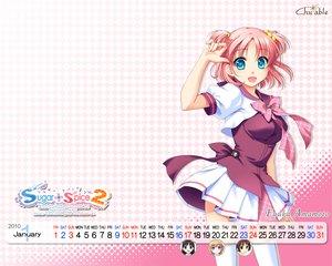 Rating: Safe Score: 44 Tags: amamoto_fuuka ginta pink_hair school_uniform skirt sugar+spice_2 twintails User: Yunocchi