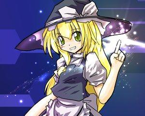 Rating: Safe Score: 7 Tags: blonde_hair hat kirisame_marisa touhou witch yellow_eyes User: Oyashiro-sama