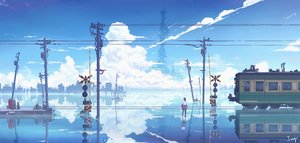 Rating: Safe Score: 52 Tags: building city clouds jing_(jiunn1985matw) original reflection scenic signed silhouette sky train water User: FormX