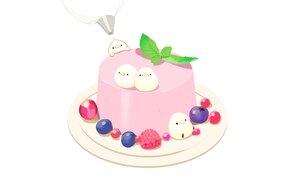 Rating: Safe Score: 7 Tags: animal bird chai_(artist) food fruit nobody original polychromatic signed User: otaku_emmy
