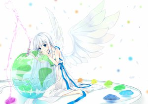 Rating: Safe Score: 28 Tags: colorful_dot nashi_rin white white_hair wings User: HawthorneKitty