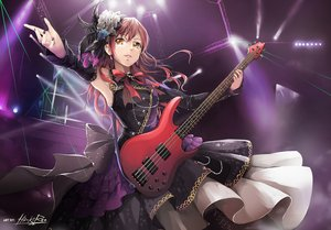 Rating: Safe Score: 45 Tags: bang_dream! bow dress feathers flowers guitar hiroki_ree imai_lisa instrument long_hair orange_eyes red_hair signed User: BattlequeenYume