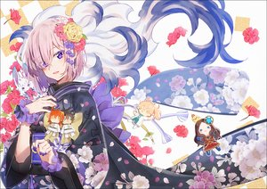 Rating: Safe Score: 40 Tags: doll fate/grand_order fate_(series) flowers fou_(fate/grand_order) fujimaru_ritsuka_(female) fujimaru_ritsuka_(male) hakusai japanese_clothes kimono leonardo_da_vinci_(fate) mash_kyrielight petals pink_hair purple_eyes romani_archaman short_hair User: FormX