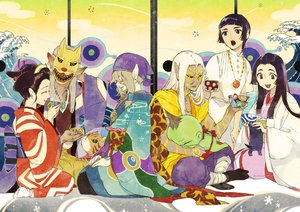 Rating: Safe Score: 18 Tags: animal bandage black_hair blonde_hair brown_eyes brown_hair cat dark_skin drink gray_hair group headdress japanese_clothes kimono male mask necklace onmyouji pointed_ears short_hair socks tagme_(artist) tagme_(character) tattoo white_hair User: otaku_emmy