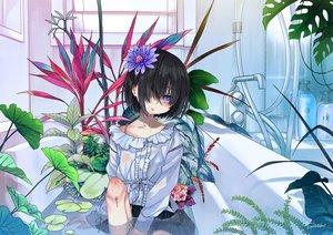 Rating: Safe Score: 38 Tags: bath bathtub blood dancho_(dancyo) flowers original signed User: FormX