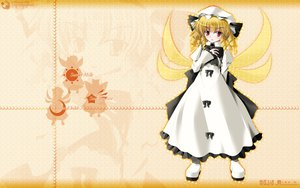 Rating: Safe Score: 19 Tags: blonde_hair bow fairy hat luna_child red_eyes side_b touhou wings User: schellen