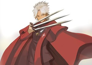Rating: Safe Score: 14 Tags: all_male amakusa_shirou cape dark_skin fate/apocrypha fate_(series) gray_hair katagiri_(giri_77) male short_hair weapon yellow_eyes User: RyuZU