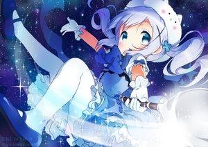 Rating: Safe Score: 108 Tags: blue_eyes bow dress gloves gochuumon_wa_usagi_desu_ka? kafuu_chino neki_(wakiko) pantyhose signed space stars tippy_(gochiusa) wand User: luckyluna