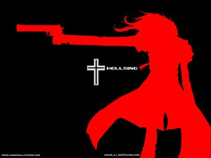 Rating: Safe Score: 15 Tags: alucard gun hellsing silhouette weapon User: Oyashiro-sama