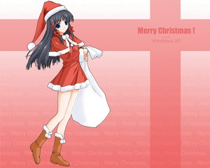 Rating: Safe Score: 27 Tags: anthropomorphism christmas hat os-tan santa_costume santa_hat windows xp User: acucar11