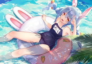 Rating: Safe Score: 54 Tags: animal_ears braids brat bunny_ears bunnygirl hololive school_swimsuit swim_ring swimsuit twintails usada_pekora water User: BattlequeenYume