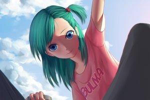 Rating: Safe Score: 121 Tags: blue_eyes bulma clouds dragonball green_hair long_hair maredoro ponytail User: Flandre93