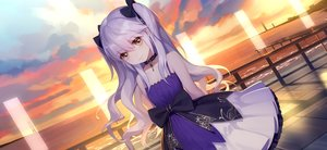 Rating: Safe Score: 56 Tags: bow brown_eyes choker clouds daye_bie_qia_lian flat_chest goth-loli loli lolita_fashion long_hair ribbons romantic_saga_of_beauty_&_devil sima_yi_(romantic_saga_of_beauty_&_devil) sky sunset twintails water white_hair User: otaku_emmy