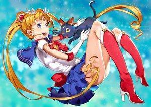 Rating: Safe Score: 38 Tags: animal blonde_hair bow cat elbow_gloves el-zheng long_hair sailor_moon seifuku skirt tsukino_usagi twintails User: Flandre93