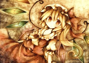 Rating: Safe Score: 61 Tags: blonde_hair flandre_scarlet hat polychromatic ponytail red_eyes touhou vampire wings wiriam07 User: PAIIS