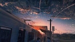 Rating: Safe Score: 101 Tags: banishment building city clouds dark male original ponytail scenic seifuku short_hair signed sky sunset train User: Dreista