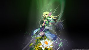 Rating: Safe Score: 87 Tags: blonde_hair blue_eyes breasts cleavage dress flowers flyff long_hair tagme User: FoliFF