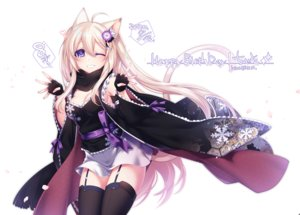 Rating: Safe Score: 36 Tags: animal_ears blonde_hair blush breasts catgirl cleavage garter_belt gloves japanese_clothes konshin long_hair original phantasy_star_online phantasy_star_online_2 purple_eyes scarf signed stockings tail waifu2x white wink zettai_ryouiki User: otaku_emmy