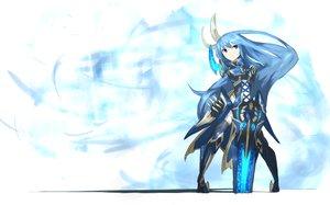 Rating: Safe Score: 123 Tags: armor blue_hair boots ganesagi long_hair original sword weapon User: Tensa