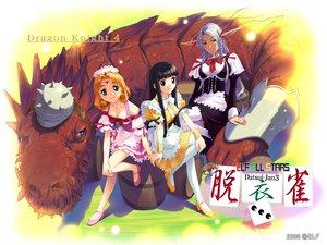 Rating: Safe Score: 8 Tags: black_hair dragon dress elf_all_stars pointed_ears User: Oyashiro-sama