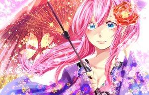 Rating: Safe Score: 3 Tags: japanese_clothes kimono long_hair megurine_luka pink_hair vocaloid User: luckyluna