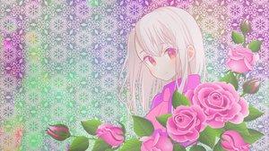 Rating: Safe Score: 21 Tags: fate/kaleid_liner_prisma_illya fate_(series) flowers illyasviel_von_einzbern rose white_hair User: MisakaImouto