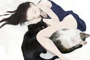 Rating: Safe Score: 28 Tags: animal black_hair cat dress junito715 long_hair original panties signed underwear User: RyuZU