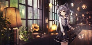 Rating: Safe Score: 185 Tags: aliasing animal_ears apple228 gray_hair mousegirl nazrin rain red_eyes scenic short_hair tail touhou water User: gnarf1975