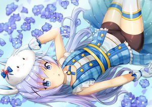 Rating: Safe Score: 48 Tags: aqua_eyes bike_shorts blue_hair blush gochuumon_wa_usagi_desu_ka? kafuu_chino loli long_hair niiya shorts tippy_(gochiusa) User: gnarf1975